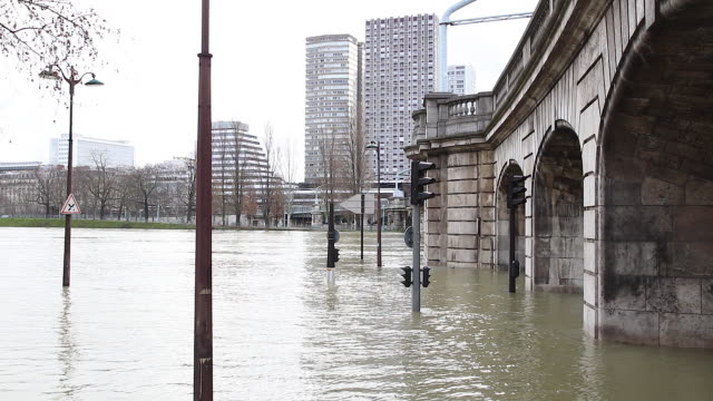 flood in paris 2018 - arch bridge stock videos and b-roll footage