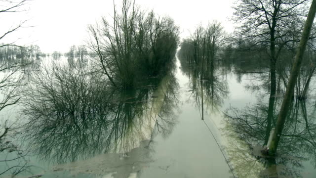 flooded country road - destruction stock videos and b-roll footage