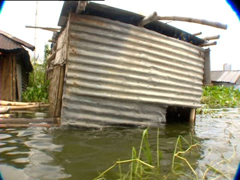 flooded houses in bangladesh - dhaka stock videos & royalty-free footage