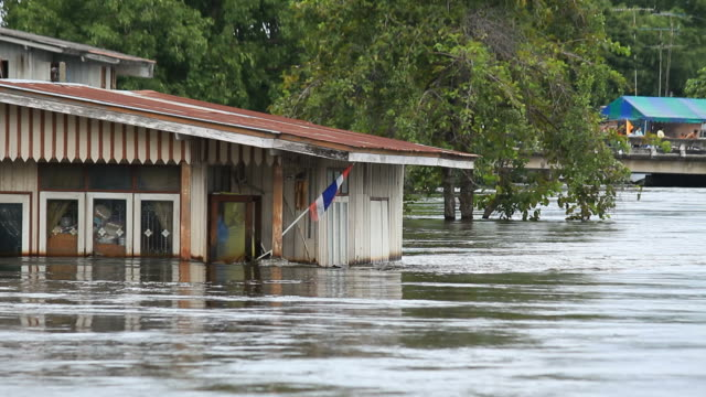Flooded housing side rivers