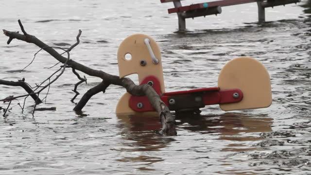 Flooded Playground after Hurricane Sandy