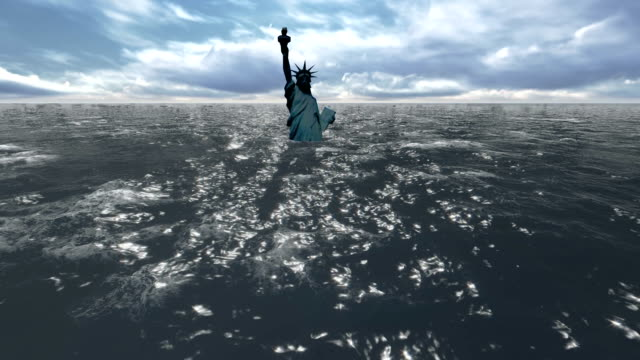 Flooded Statue of Liberty