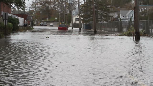 flooded streets after hurricane sandy - new england usa stock videos & royalty-free footage