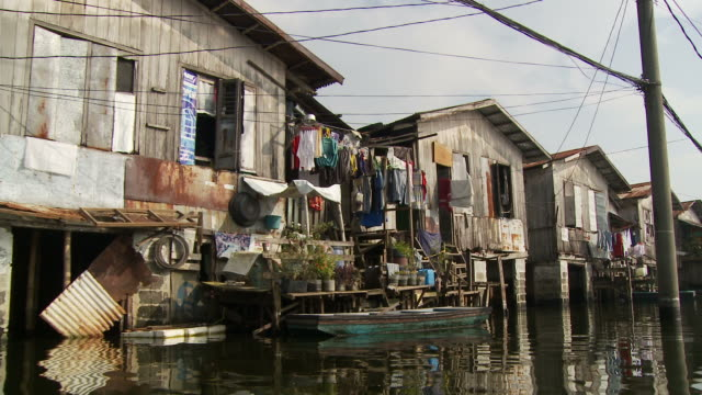 flooded village in manila philippines - philippines stock videos and b-roll footage