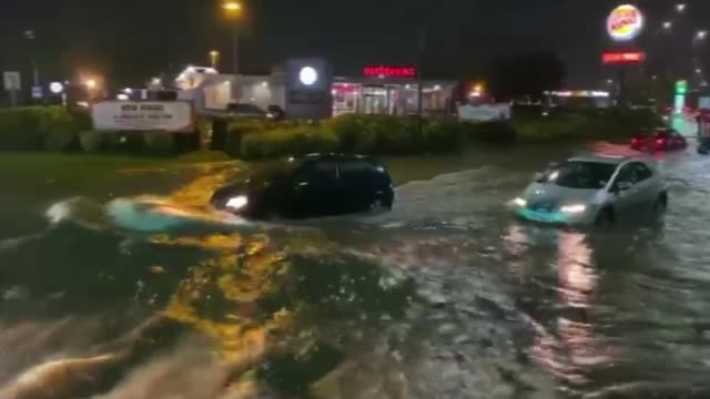 flooding across parts of england after a month's worth of rain falls in one day england yorkshire rotherham cars driving through floodwaters woman... - yorkshire england stock videos & royalty-free footage