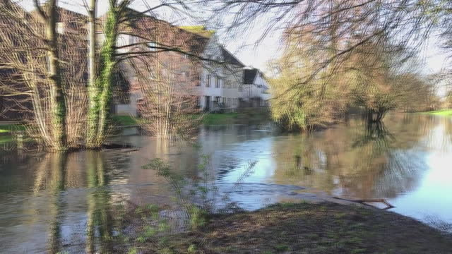 flooding caused by storm bella in cirencester - ruined stock videos & royalty-free footage