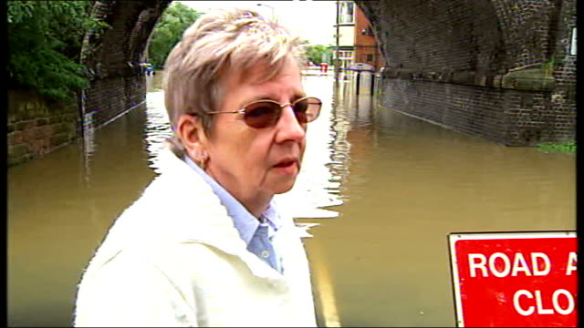 flooding continues across northern england sandra rogerson interview sot - publican stock videos & royalty-free footage