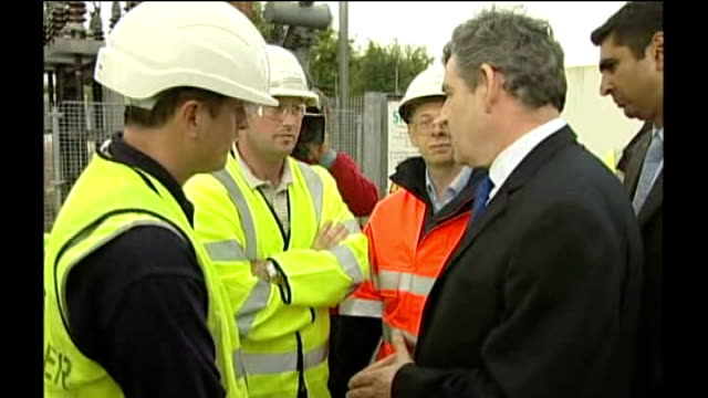 crisis continues across country ext gordon brown mp greeting emergency service workers gordon brown mp speaking to press sot in total there will be... - gordon brown stock videos & royalty-free footage