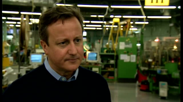 stockvideo's en b-roll-footage met david cameron visits pembrokeshire wales pembrokeshire int david cameron mp interview sot on flood defence work in wales / flood defences are a... - pembrokeshire