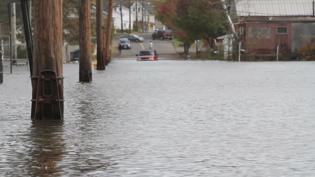 flooding from hurricane sandy - new england usa stock videos & royalty-free footage