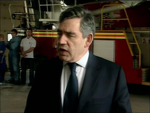 gordon brown visits hull brown towards / gordon brown press statement sot **flash photography** thank you very much for waiting / i' ve seen for... - 2007 stock videos and b-roll footage
