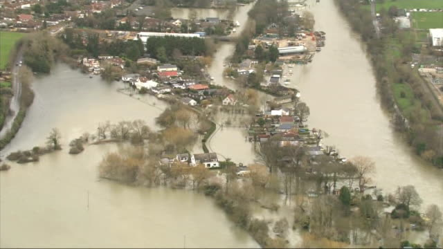 groundwater levels could keep rising until spring **macdonald interview overlaid sot** flooded river and submerged countryside - groundwater stock videos and b-roll footage