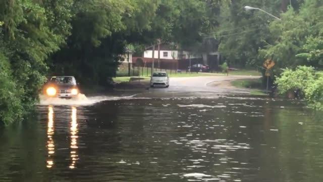 flooding in jacksonville - jacksonville florida video stock e b–roll