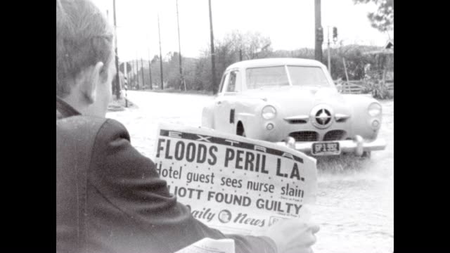 Flooding in Los Angeles during the storms of 1955