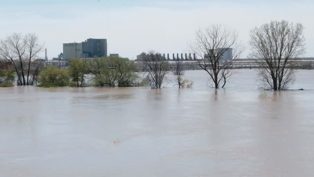 flooding in midland county mi us including the dow chemical headquarters and plants on wednesday may 20 2020 - the dow chemical company video stock e b–roll