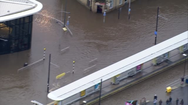 greater manchester rochdale flooded town centre streets - rochdale england stock videos & royalty-free footage