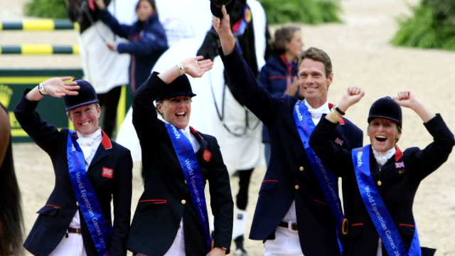 flooding in south west england / badminton horse trials cancelled gb equestrian team who won four medals at the world championships - environmental media awards stock videos & royalty-free footage