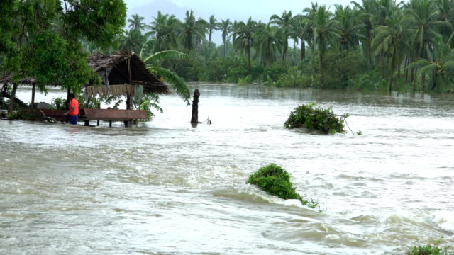 Flooding in the aftermath of typhoon Sarika in the Philippines