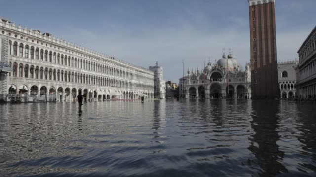 flooding in venice - venice italy stock videos & royalty-free footage