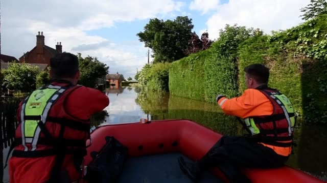 flooding in wainfleet all saints in lincolnshire after the town had more than two months of rain in just two days the royal air force has been... - lincolnshire stock videos & royalty-free footage