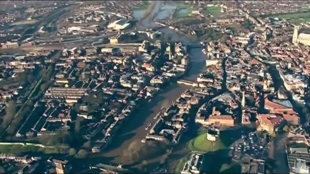New insurance scheme for people in flood risk areas launched LIB York AIR VIEWS AERIALS of flooded city