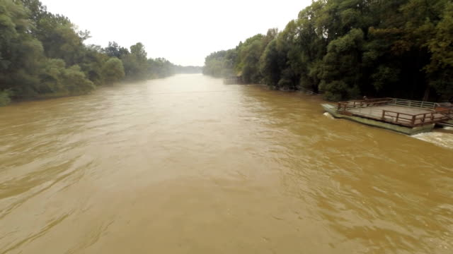 AERIAL Flooding Of A River
