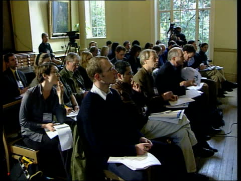 preventative measures gvs man speaking at launch of new report into global warming dr mike hulme interviewed sot if people want to avoid risks its... - east anglia stock videos and b-roll footage