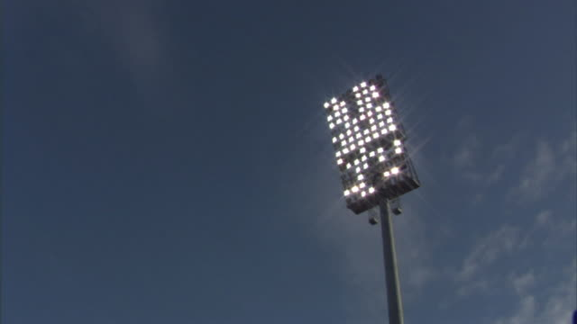 la ms floodlight in don valley stadium / sheffield, england, uk - floodlight stock videos & royalty-free footage