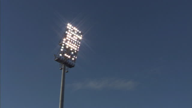 la ms floodlight in don valley stadium / sheffield, england, uk - uk stock videos & royalty-free footage