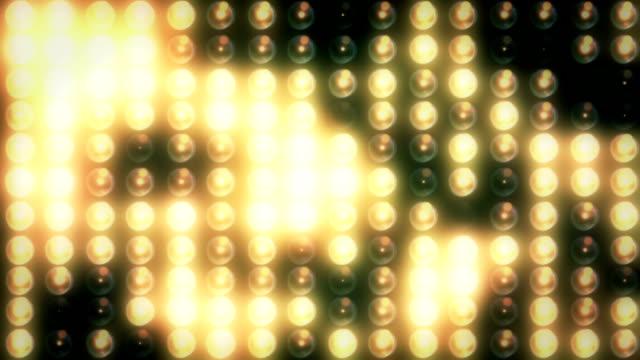 vidéos et rushes de lumière de stade ou de chantier en boucle - surexposition effet visuel