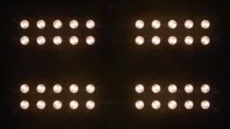 Floodlights Flashing Amber Looped Animation Close Up