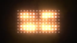 Floodlights Flashing Amber Looped Animations 14x8 Lights Flashing Wall