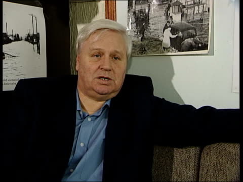50th anniversary ITN Canvey Island Geoff Barsby interviewed on memories of flood SOT