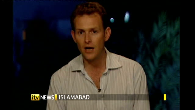 floods affect more than three million people relief efforts continue islamabad dan rivers 2way interview - 2010 video stock e b–roll