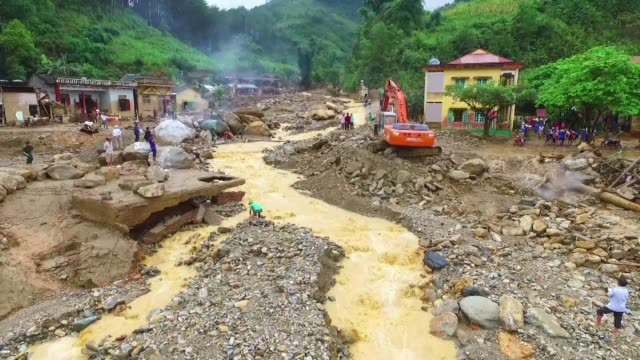 floods and landslides caused by torrential rains have killed dozens of people in vietnam's mountainous north authorities say - north vietnam stock videos & royalty-free footage