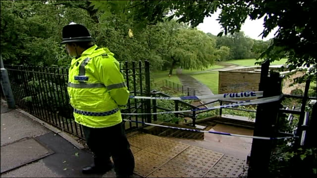 sheffield river sheaf police officers next banks of river sheaf in area where body discovered after teenage boy swept away by rushing water... - sheffield stock videos and b-roll footage