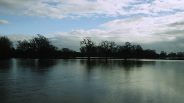 """vidéos et rushes de floodwater covers fields, upton-upon-severn, worcestershire, england - """"bbc natural history"""""""
