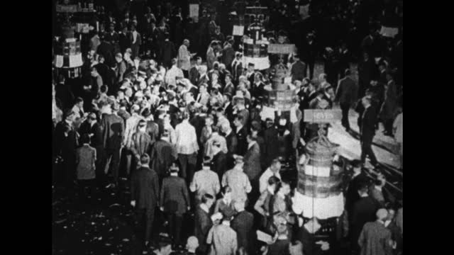 floor of the new york stock exchange 1920s - 1920 stock videos & royalty-free footage