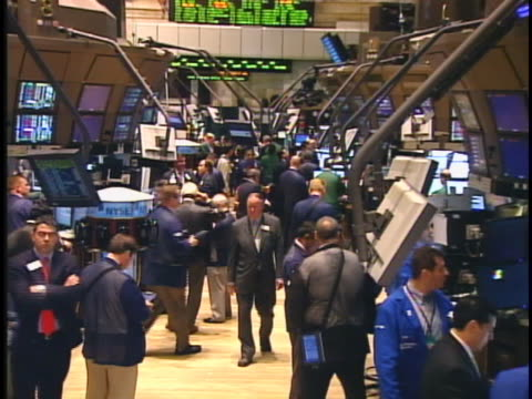 floor of the new york stock exchange in 2008, at the peak of the financial crisis. - 2008 stock videos & royalty-free footage