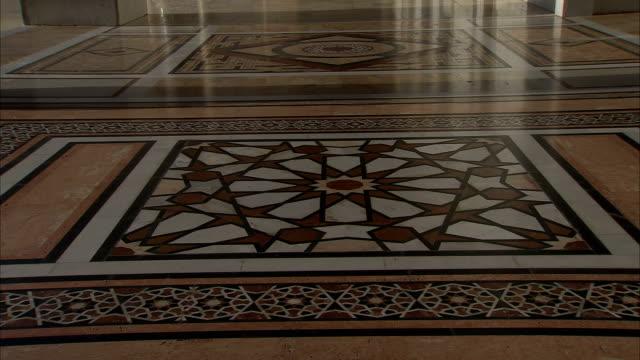 TU floor to courtard of Umayyad Mosque (Great Mosque of Damascus), Damascus, Syria