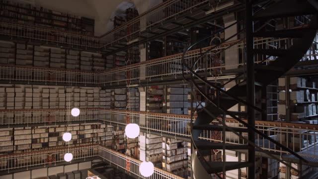 Floors of Books in the Royal Library in Copenhagen
