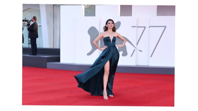 venice italy september 07 flora dalle vacche walks the red carpet ahead of the movie sniegu juz nigdy nie bedzie at the 77th venice film festival on... - gif stock videos & royalty-free footage