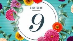Floral Countdown 10 sec.Elegant Flowers.Botanical frame!