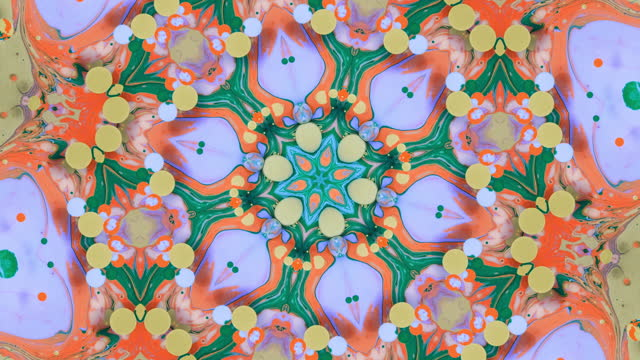 floral pattern in kaleidoscope - abstract backgrounds stock videos & royalty-free footage