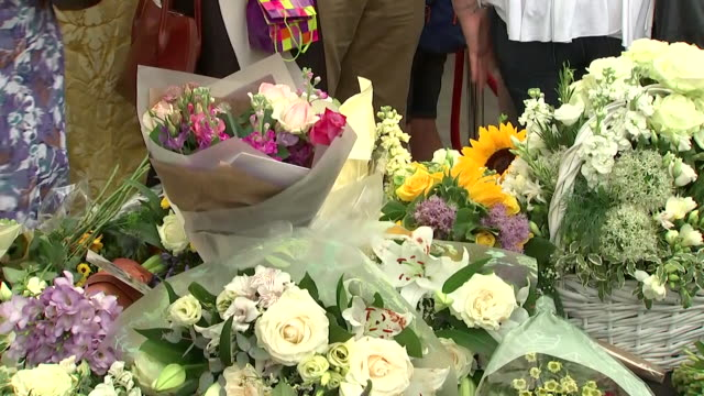 Floral tributes left at Southwark Cathedral in memory of the victims of the London Bridge terror attack on the oneyear anniversary