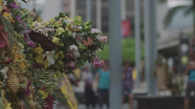 floral wreath on medellin street. - medellin colombia stock videos & royalty-free footage