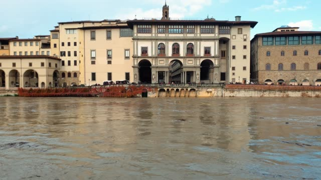 florence arno river flood - tuscany stock videos & royalty-free footage