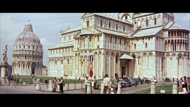 ms florence as seen from piazza michelangelo / florence, italy - anno 1956 video stock e b–roll