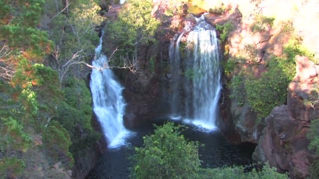 florence falls, litchfield national park, australia - northern territory australia stock videos & royalty-free footage