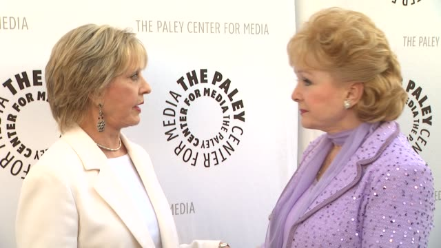 florence henderson and debbie reynolds at the the paley center for media presents a special premiere viewing & reception, 'debbie reynolds: the... - debbie reynolds stock-videos und b-roll-filmmaterial